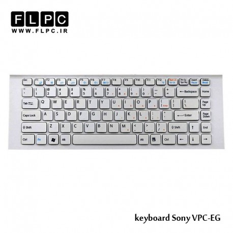 کیبورد لپ تاپ سونی Sony laptop keyboard VPC-EG سفید - بافریم