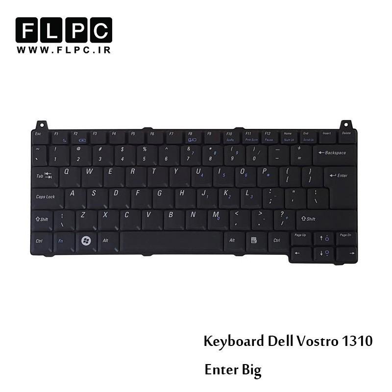 کیبورد لپ تاپ دل Dell Laptop Keyboard Vostro 1310 مشکی-اینتر بزرگ