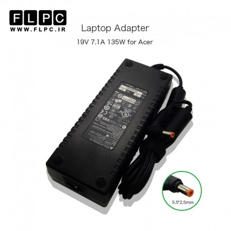آداپتور لپ تاپ ایسر 19ولت 7.1 آمپر 135وات / Acer Laptop Adaptor 19V 7.1A 135W
