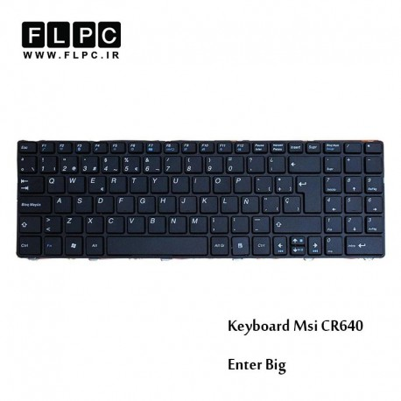 کیبورد لپ تاپ ام اس آی (اینتر بزرگ) MSI Laptop keyboard CR640