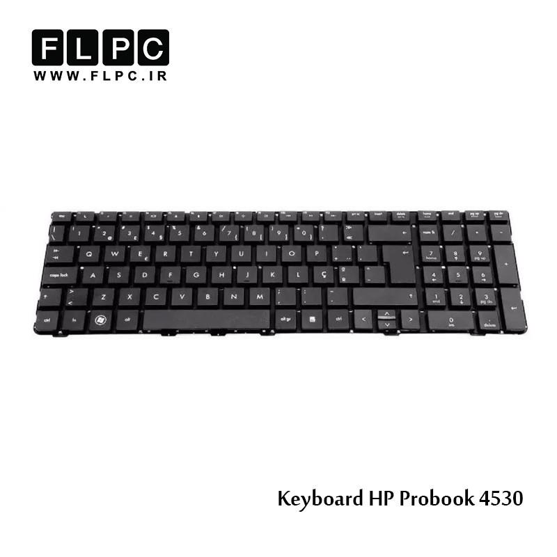 کیبرد لپ تاپ اچ پی HP Laptop Keyboard ProBook 4530 مشکی-اینتر بزرگ-بدون فریم
