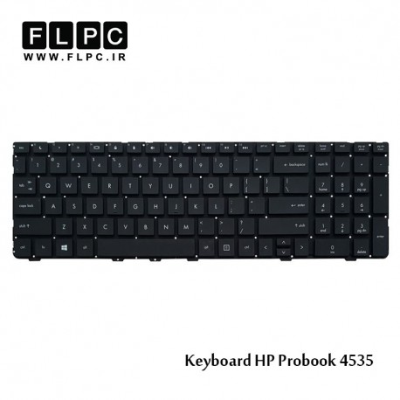 کیبورد لپ تاپ اچ پی HP Laptop Keyboard ProBook 4535 مشکی-اینتر کوچک-بدون فریم