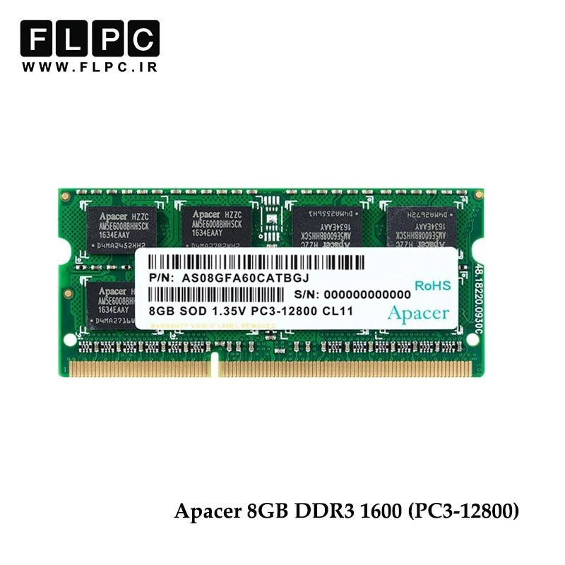 رم لپ تاپ (1600) 12800 Ram Apacer 8GB DDR3L