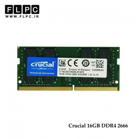 16Gb DDr4 2666/2400 Crucial RAM for Laptop