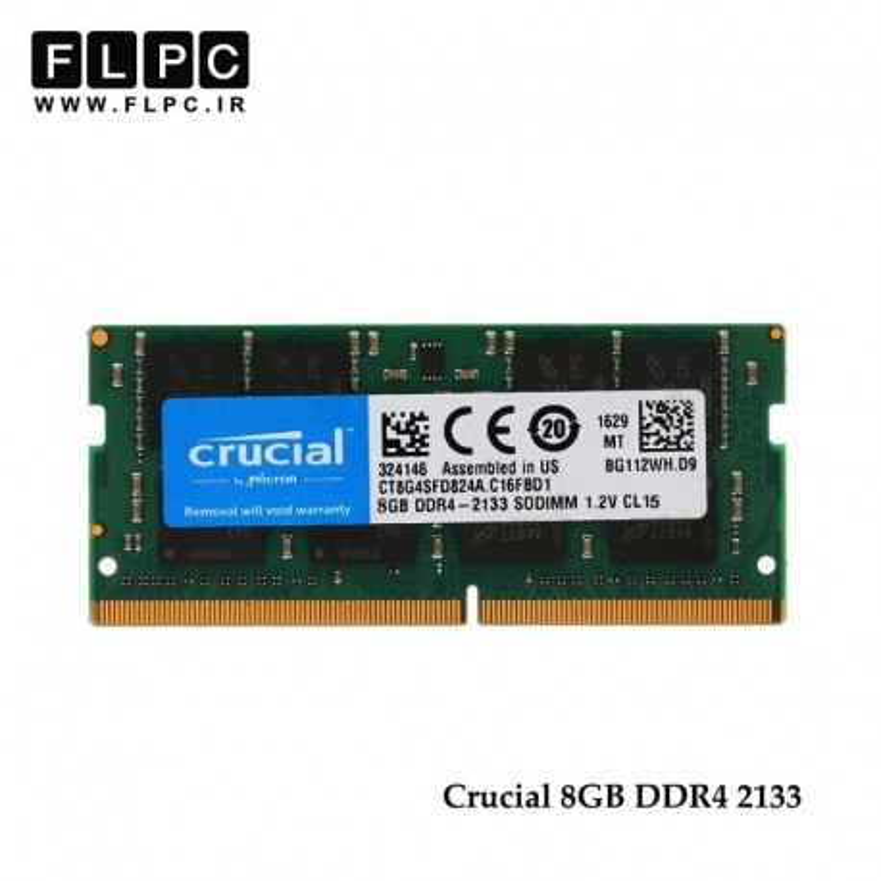 رم لپ تاپ RAM 8GB DDR4 Crucial 2133