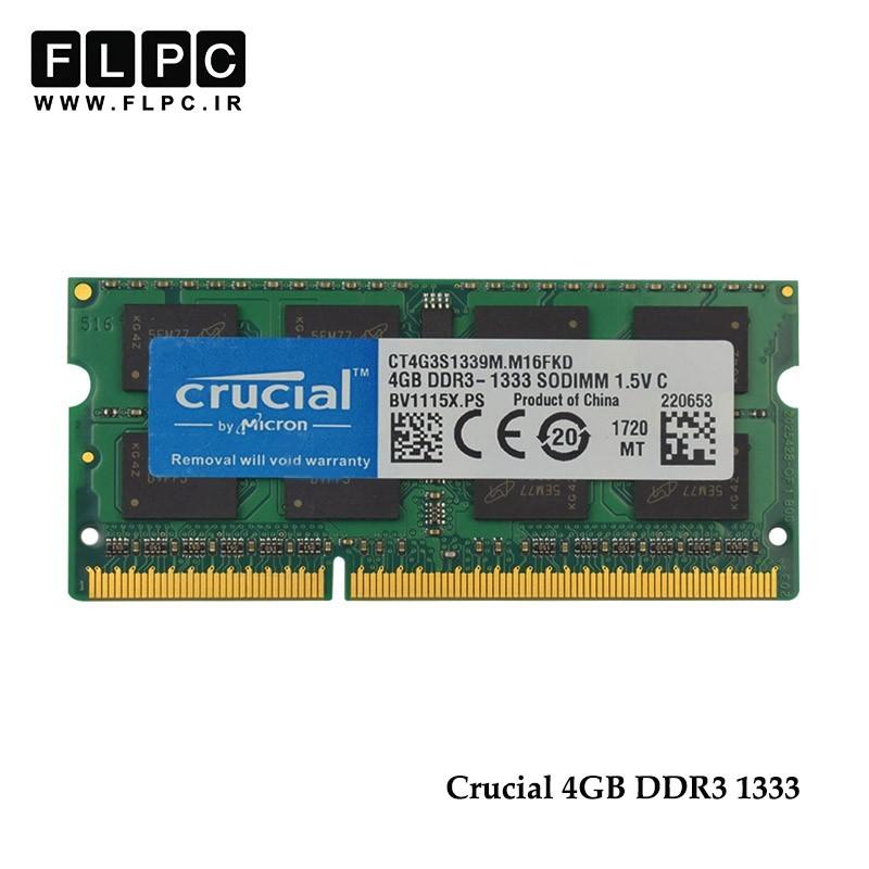 رم لپ تاپ 4 گیگابایت کروشیال (Crucial Laptop Ram 4GB DDR3 1333 (PC3 10600