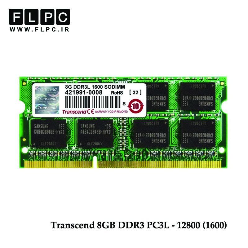 رم لپ تاپ Ram Transcend 8GB DDR3L 1600