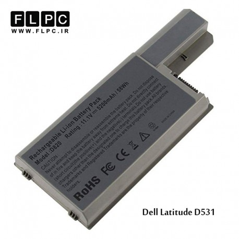 باطری باتری لپ تاپ دل 6 سلول Dell laptop battery Latitude D531 6cell