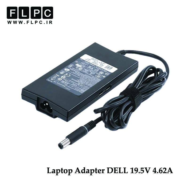 آداپتور دل 19.5 ولت 4.62 آمپر 90 وات اسلیم Dell 19.5V 4.62A 90W Laptop Slim AC Adaptor