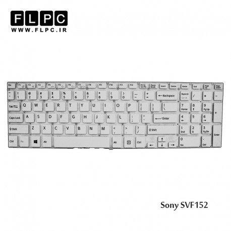 Keyboard Laptop White Sony SVF15 کیبرد-کی برد لپ تاپ سونی سفید