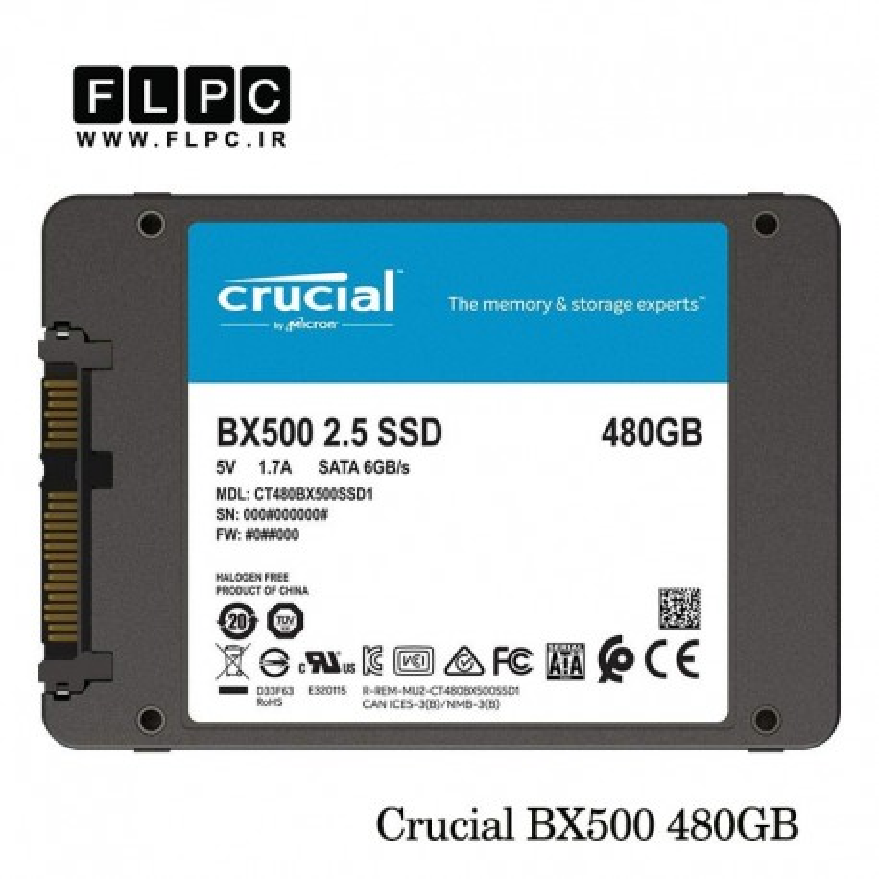 اس اس دی 480 گیگابایتی کروشیال Crucial BX500 2.5inch SATA 480GB SSD