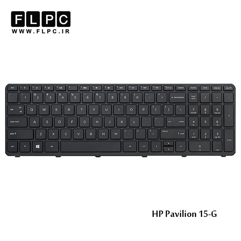 کیبورد لپ تاپ اچ پی اینترکوچک با فریم مشکی HP Laptop Keyboard Pavilion 15-G
