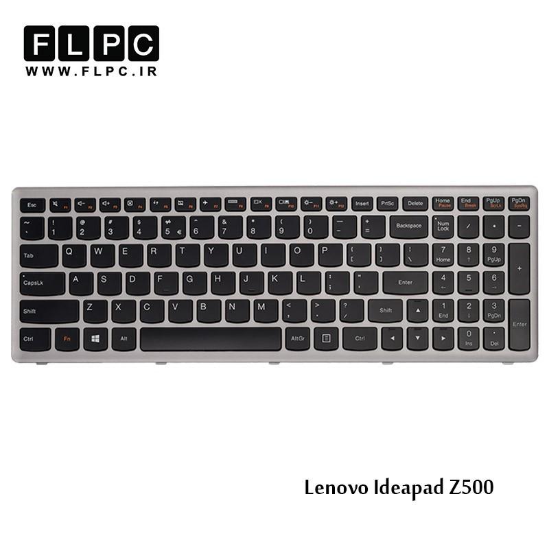 کیبورد لپ تاپ لنوو Lenovo Laptop Keyboard Ideapad Z500 مشکی-بافریم نقره ای
