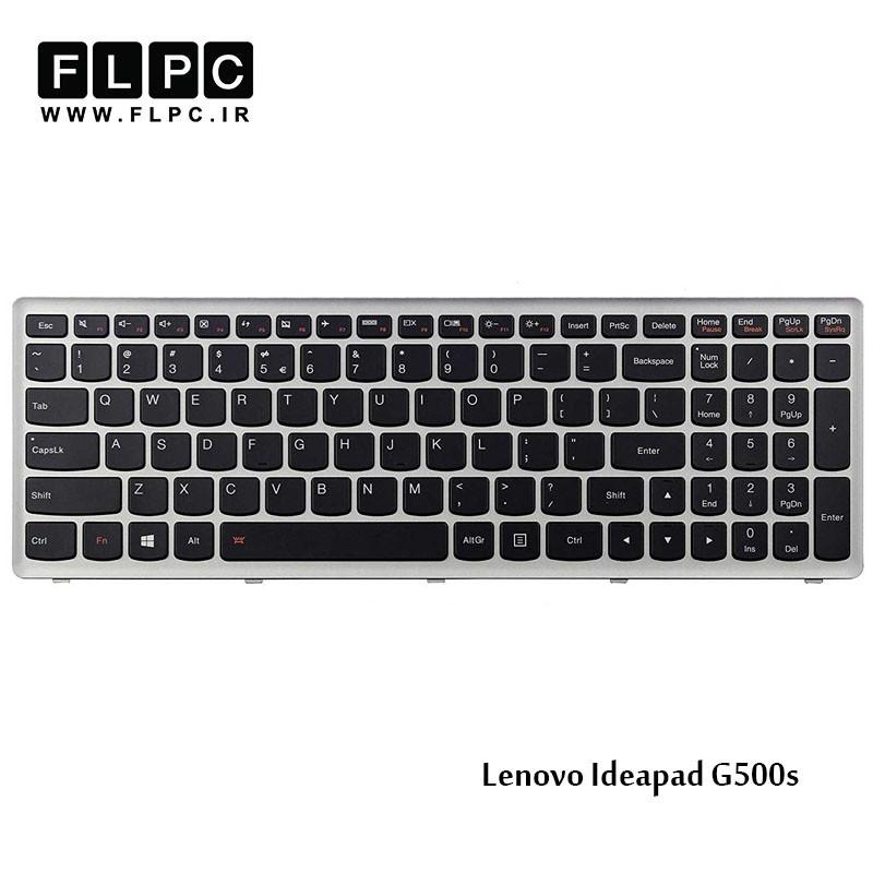 کیبورد لپ تاپ لنوو Lenovo laptop keyboard IdeaPad G500s مشکی-با فریم نقره ای