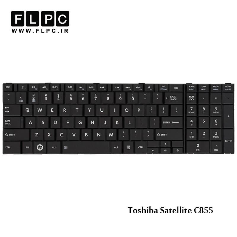 کیبورد لپ تاپ توشیبا مشکی Toshiba Laptop Keyboard Satellite C855 Black