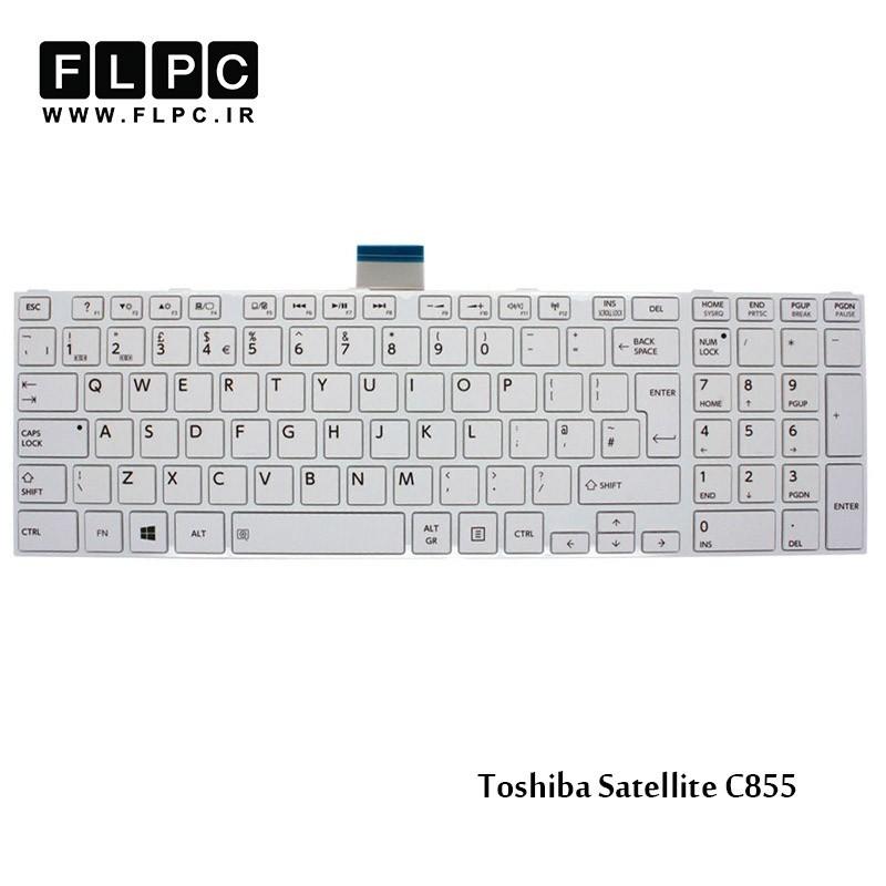 کیبورد لپ تاپ توشیبا سفید Toshiba Laptop Keyboard Satellite C855 white