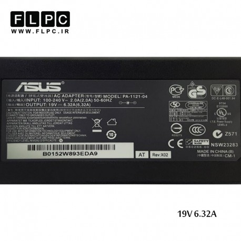 آداپتور لپ تاپ ایسوس Asus laptop adaptor 19V-6.32A
