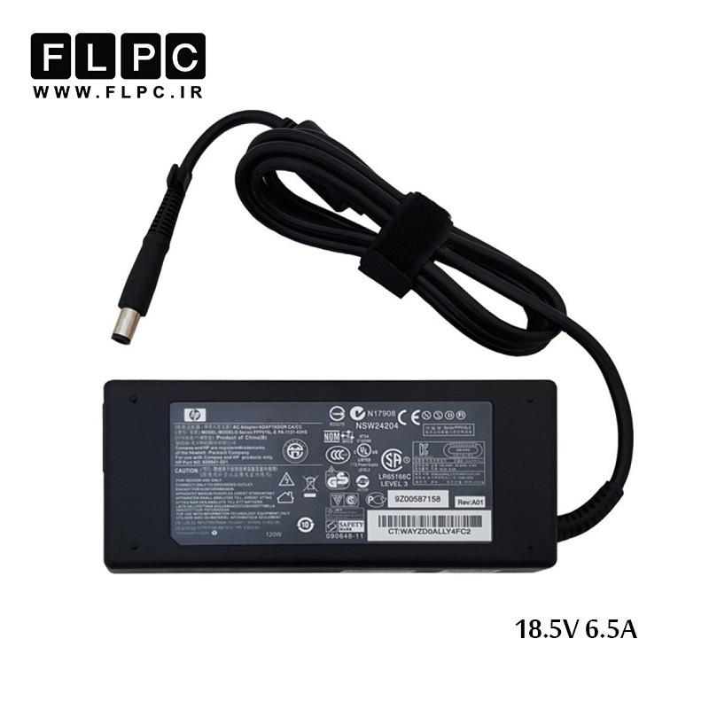 آداپتور لپ تاپ اچ پی 18.5 ولت 6.5 آمپر سر دلی HP 18.5V 6.5A Laptop Adaptor DC Org