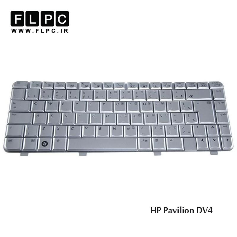 کیبورد لپ تاپ اچ پی نقره ای HP laptop keyboard Pavilion DV4-1000 Silver