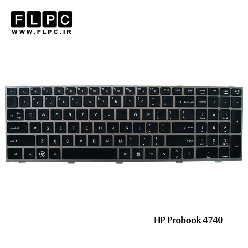 کیبورد لپ تاپ اچ پی HP Laptop Keyboard Probook 4740 مشکی-با فریم نوک مدادی