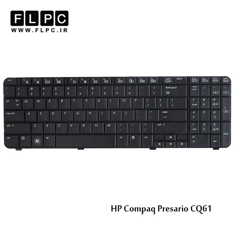 کیبورد لپ تاپ اچ پی HP Laptop Keyboard Compaq Presario CQ61 مشکی