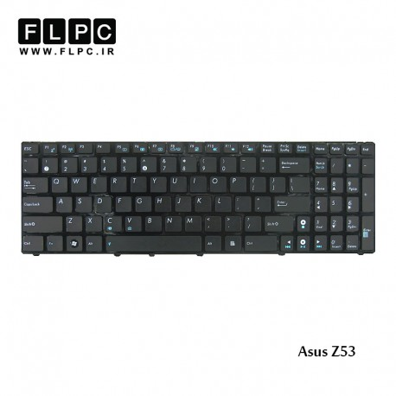 کیبورد لپ تاپ ایسوس Asus Laptop keyboard Z53 مشکی-بافریم