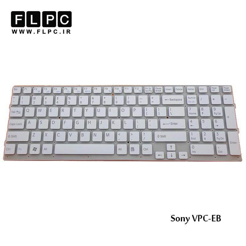 کیبورد لپ تاپ سونی Sony Laptop Keyboard VPC-EB سفید-اینتر کوچک-بدون فریم