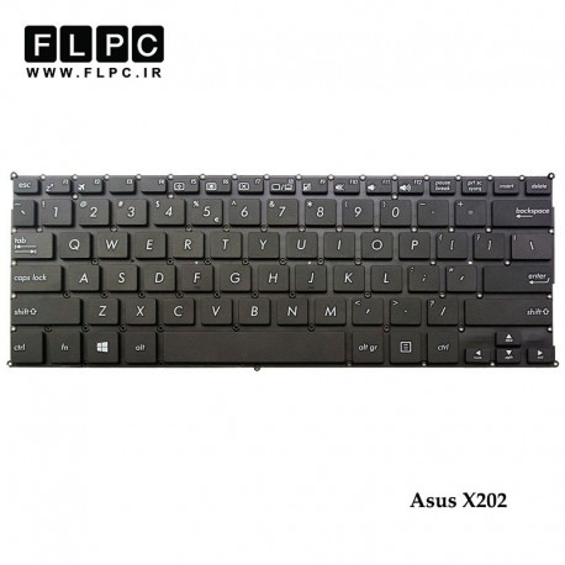کیبورد لپ تاپ ایسوس Asus Laptop Keyboard X202 مشکی-اینتر کوچک-بدون فریم