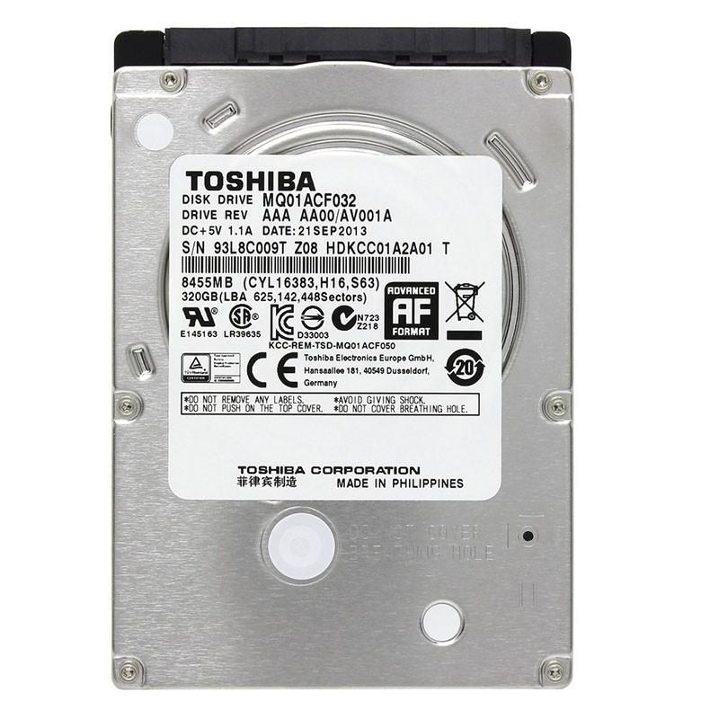 هارد لپ تاپ 320 گیگا بایتی توشیبا ساتا 2.5 اینچ ریفر Toshiba 320GB 2.5 SATA Refurbished Laptop HDD