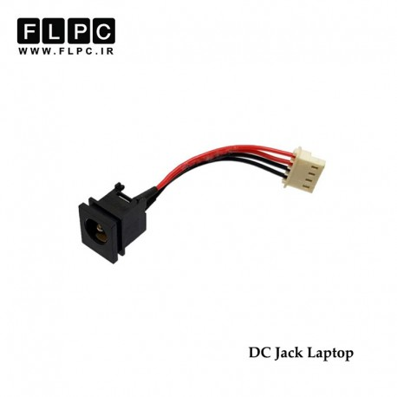 جک برق لپ تاپ با کابل DC Power Jack FS406
