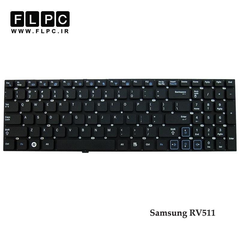 کیبورد لپ تاپ سامسونگ Samsung Laptop Keyboard RV511 مشکی-اینتر کوچک-بدون فریم