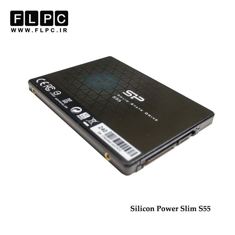 اس اس دی اینترنال سیلیکون پاور مدل Slim S55 ظرفیت 240 گیگابایت/Silicon Power Slim S55 SATA3.0 Internal SSD 240GB