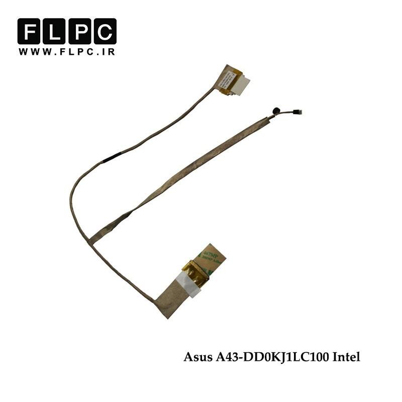 فلت تصویر لپ تاپ ایسوس Asus A43s Laptop Screen Cable _DD0KJ1LC100-Intel کشویی