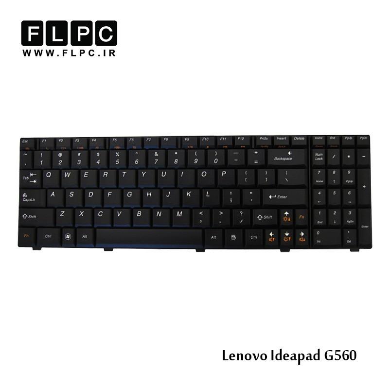 کیبورد لپ تاپ لنوو Lenovo laptop keyboard IdeaPad G560 مشکی-با فریم