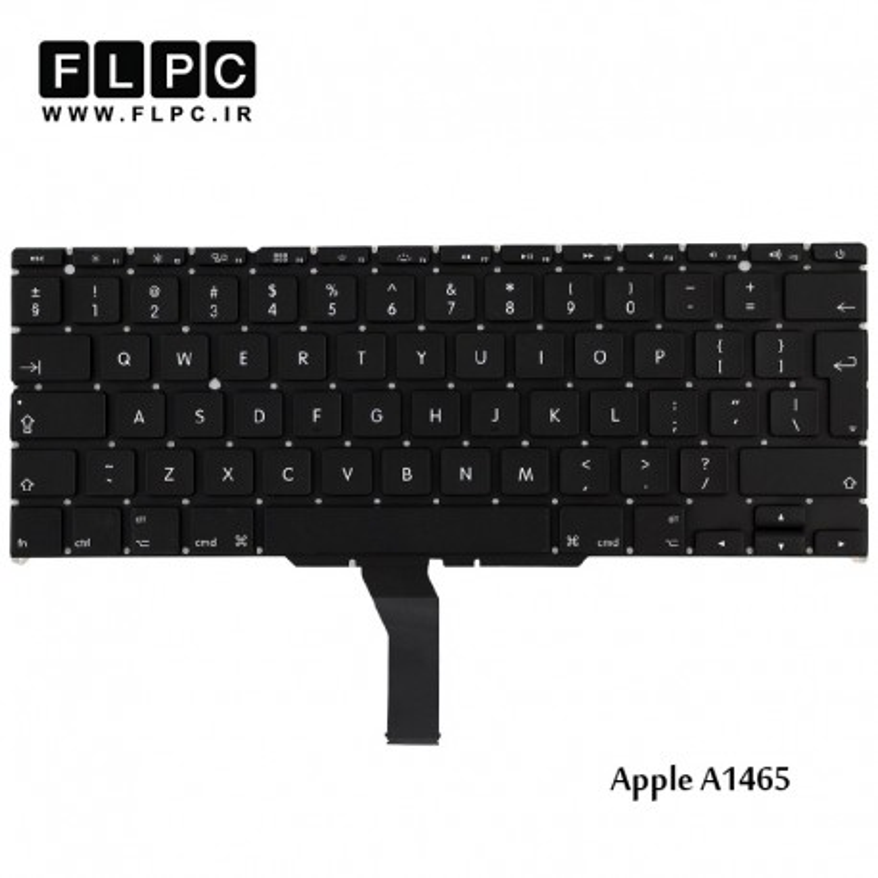 کیبورد لپ تاپ اپل Apple Laptop Keyboard A1465 مشکی-اینتر کوچک