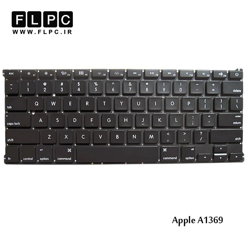 کیبورد لپ تاپ اپل Apple Laptop Keyboard A1369 مشکی-اینتر کوچک