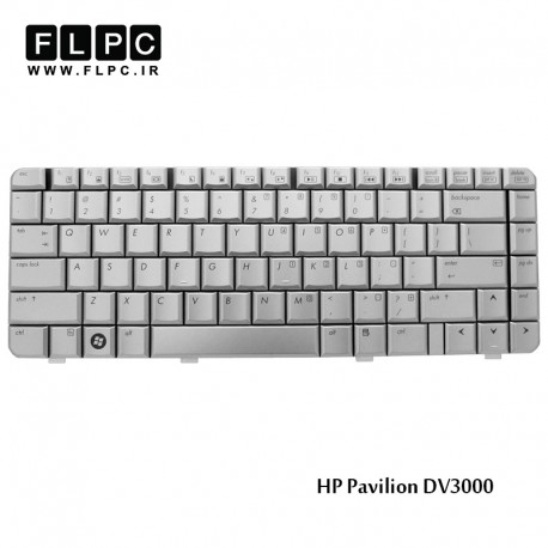 کیبورد لپ تاپ اچ پی HP Laptop Keyboard Pavilion DV3000 نقره ای