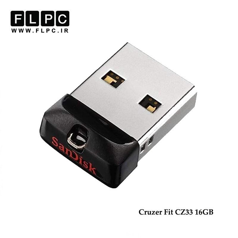 فلش مموری مدل Cruzer Fit CZ33 سن دیسک ظرفیت 16 گیگابایت//sandisk Cruzer Fit CZ33 Flash Memory 16GB
