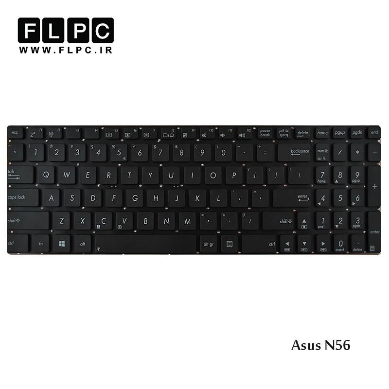 کیبورد لپ تاپ ایسوس Asus Laptop Keyboard N56 مشکی-اینتر کوچک-بدون فریم