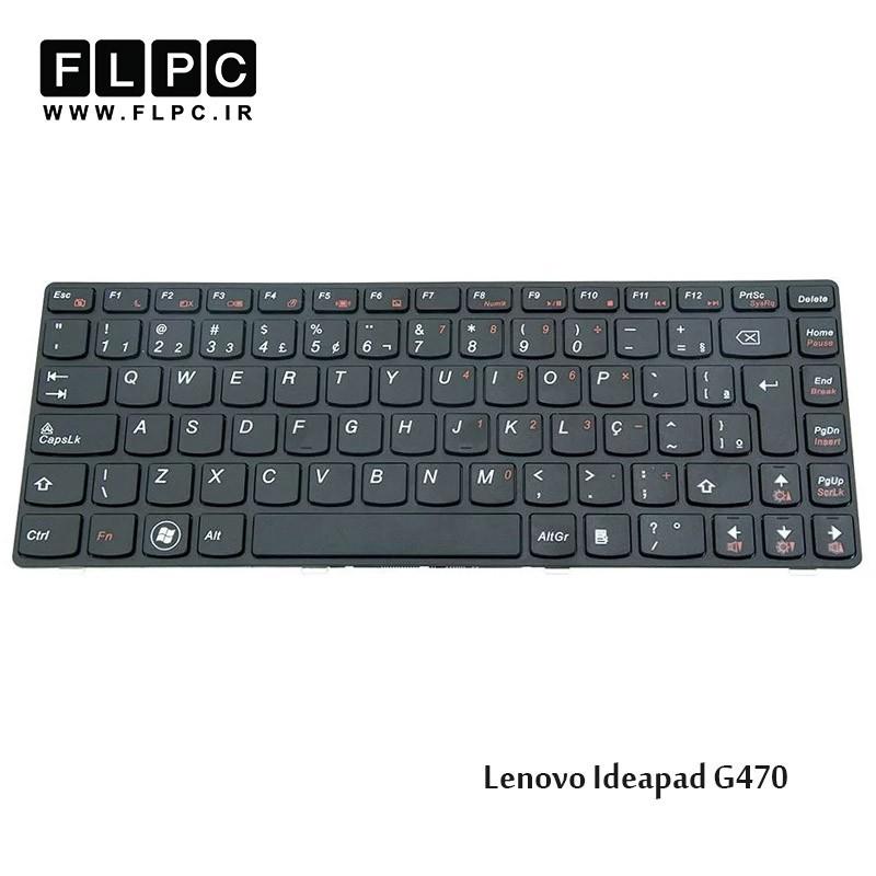 کیبورد لپ تاپ لنوو Lenovo Laptop Keyboard IdeaPad G470 مشکی-بافریم