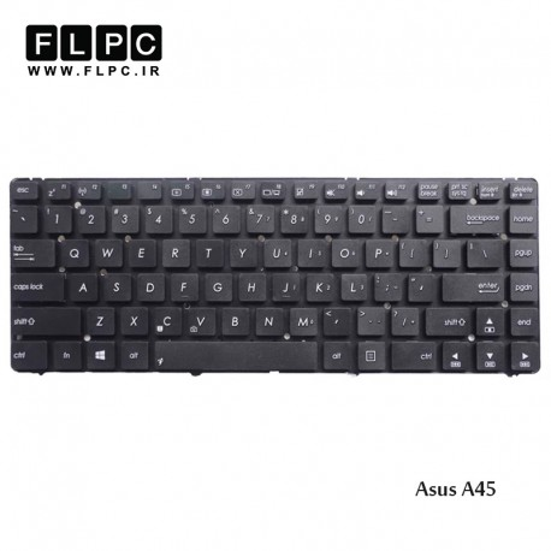 کیبورد لپ تاپ ایسوس Asus Laptop Keyboard A45 مشکی-اینتر کوچک-بدون فریم