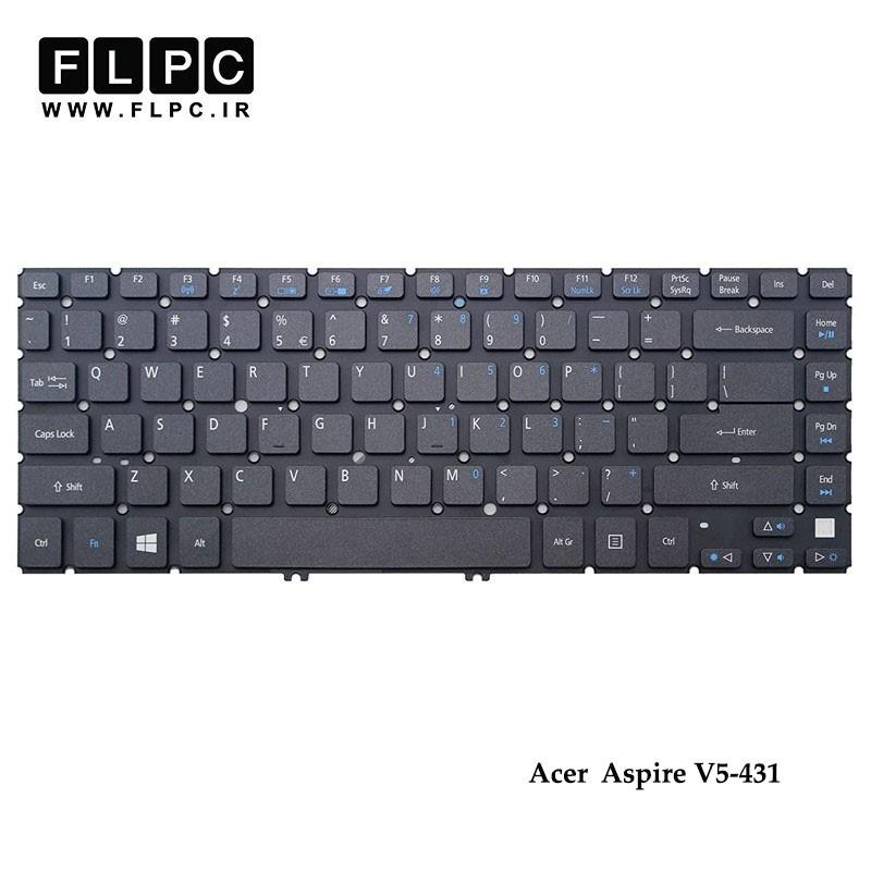 کیبورد لپ تاپ ایسر Acer Laptop Keyboard Aspire V5-431 مشکی-اینتر کوچک-بدون فریم