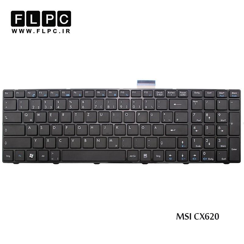 کیبورد لپ تاپ ام اس آی MSI Laptop Keyboard CX620 مشکی-بافریم