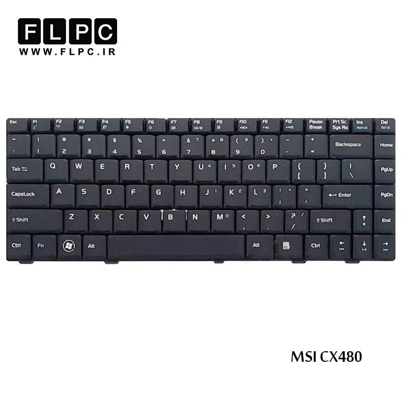 کیبورد لپ تاپ ام اس آی MSI Laptop keyboard CX480 مشکی-فلت صاف