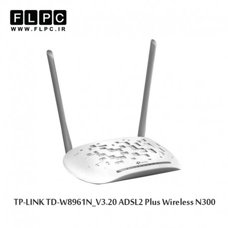 مودم روتر ADSL2 Plus بی سیم N300 تی پی-لینک مدل TD-W8961N_V3.20