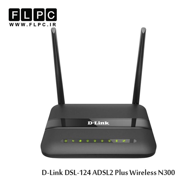 مودم روتر N300 بی سیم +ADSL2 دی-لینک مدل DSL-124