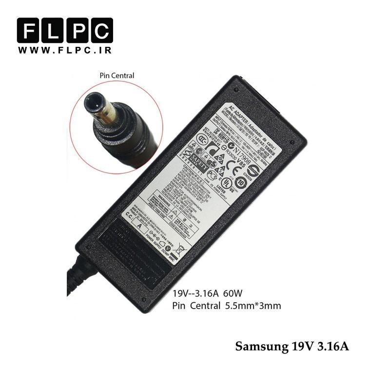 آداپتور لپ تاپ سامسونگ 19 ولت 3.16آمپر60 وات/Samsung Laptop Adaptor 19V 3.16A 60W