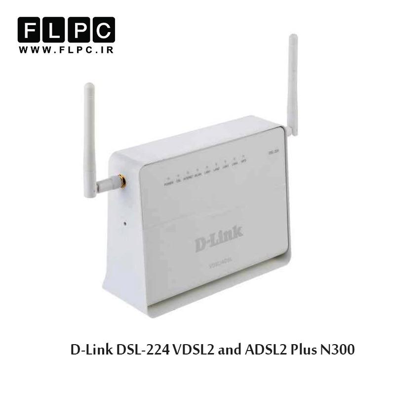 مودم روتر بی سیم ADSL2 Plus و VDSL2 دی-لینک مدل DSL-224