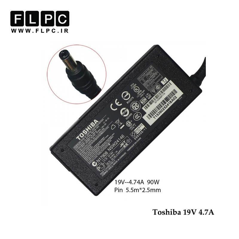 آداپتور لپ تاپ توشیبا 19ولت 4.7 آمپر 90 وات / Toshiba Laptop Adaptor 19V 4.7A 90W