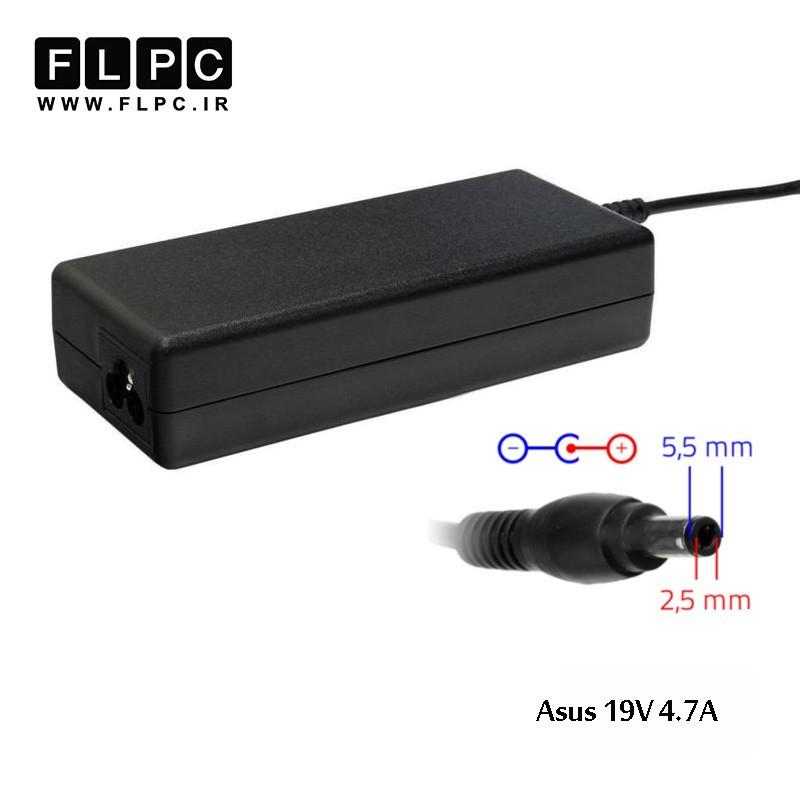 آداپتور لپ تاپ ایسوس 19ولت 4.7 آمپر 90 وات Asus 19V 4.7A 90W Laptop AC adaptor